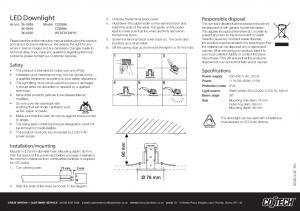 LED Downlight Art.no Model CED CED WCVC012W10
