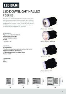 LED DOWNLIGHT HALLUX F SERIES