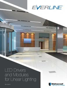LED Drivers and Modules for Linear Lighting