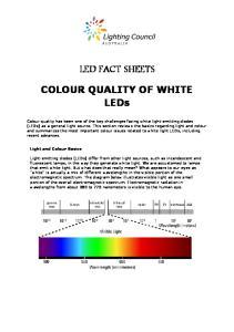 LED FACT SHEETS. COLOUR QUALITY OF WHITE LEDs