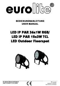 LED IP PAR 12x3W TCL LED Outdoor Floorspot