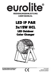 LED IP PAR 3x12W HCL LED Outdoor Color Changer
