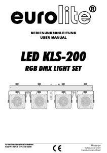 LED KLS-200 RGB DMX LIGHT SET