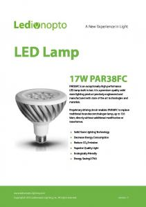 LED Lamp 17W PAR38FC. A New Experience in Light
