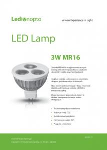 LED Lamp 3W MR16. A New Experience in Light