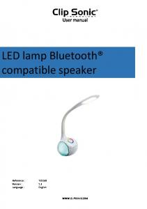 LED lamp Bluetooth compatible speaker