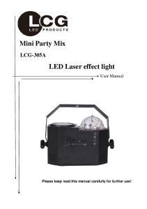 LED Laser effect light