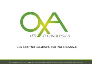 LED. LED Lighting solutions for professionals