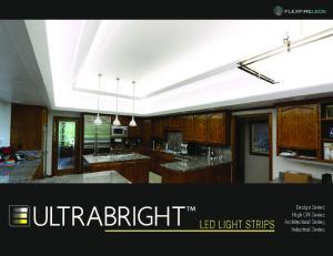 LED LIGHT STRIPS. Design Series High CRI Series Architectural Series Industrial Series