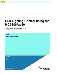 LED Lighting Control Using the MC9S08AW60