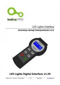 LED Lights Digital Interface v1.30