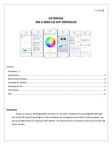 LED MAGICAL RGB & RGBW LED WIFI CONTROLLER