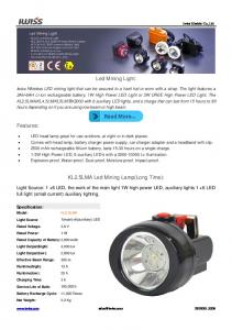 Led Mining Light: KL2.5LMA Led Mining Lamp(Long Time):