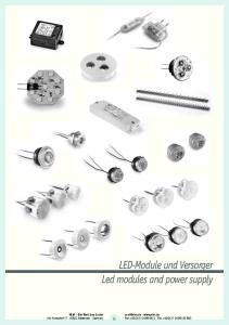 LED-Module und Versorger Led modules and power supply. VLM Die Welt des Lichts Am Korreshof Mettmann Germany