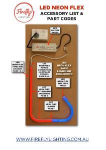 LED NEON FLEX ACCESSORY LIST & PART CODES