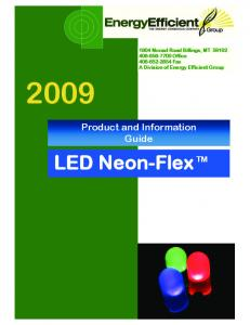 LED Neon-Flex TM. Product and Information Guide
