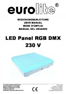 LED Panel RGB DMX 230 V