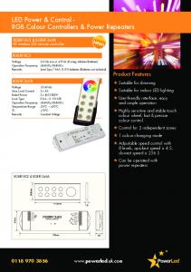 LED Power & Control - RGB Colour Controllers & Power Repeaters