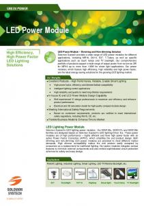 LED Power Module. High Efficiency, High Power Factor LED Lighting Solutions