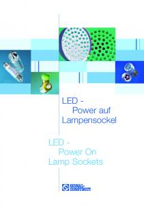 LED - Power On Lamp Sockets