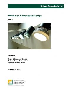 LED Screw-in Directional Lamps