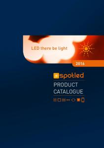 LED there be light PRODUCT CATALOGUE