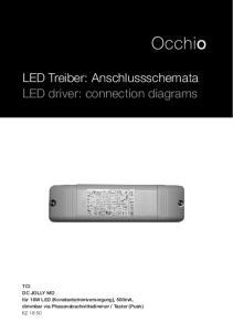LED Treiber: Anschlussschemata LED driver: connection diagrams