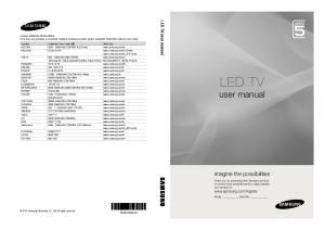 LED TV. user manual. imagine the possibilities. LED TV user manual