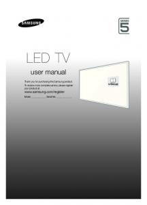 LED TV. user manual. Model Serial No