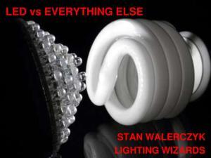 LED vs EVERYTHING ELSE STAN WALERCZYK LIGHTING WIZARDS