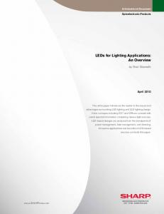 LEDs for Lighting Applications: An Overview