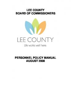 LEE COUNTY BOARD OF COMMISSIONERS