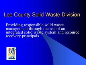 Lee County Solid Waste Division