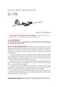 LEE PARA EL ESTUDIO DE ESTA SEMANA: