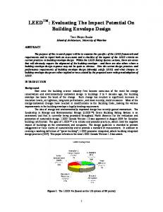 LEED TM : Evaluating The Impact Potential On Building Envelope Design