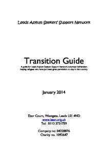 Leeds Asylum Seekers Support Network. Transition Guide