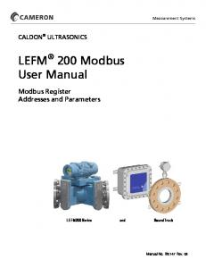 LEFM 200 Modbus User Manual