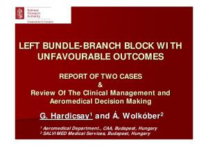 LEFT BUNDLE-BRANCH BRANCH BLOCK WITH UNFAVOURABLE OUTCOMES