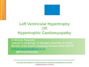 Left Ventricular Hypertrophy OR Hypertrophic Cardiomyopathy