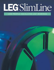 LEG SlimLine LOW PROFILE EQUALIZING LEG BEARINGS