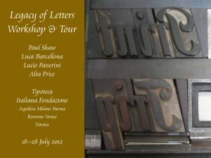 Legacy of Letters Workshop & Tour