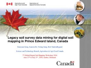 Legacy soil survey data mining for digital soil mapping in Prince Edward Island, Canada