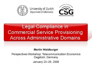 Legal Compliance in Commercial Service Provisioning Across Administrative Domains