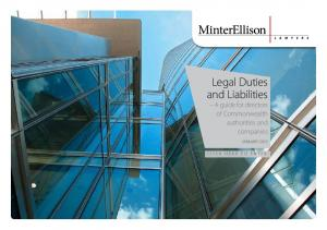 Legal Duties and Liabilities A guide for directors of Commonwealth authorities and companies