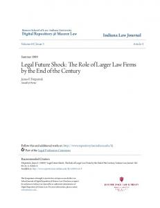 Legal Future Shock: The Role of Larger Law Firms by the End of the Century