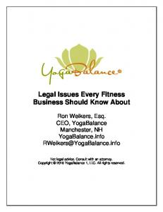 Legal Issues Every Fitness Business Should Know About