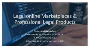 Legal online Marketplaces & Professional Legal Products
