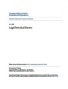Legal Periodical Review