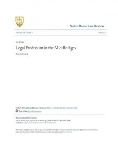 Legal Profession in the Middle Ages