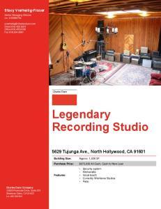 Legendary Recording Studio